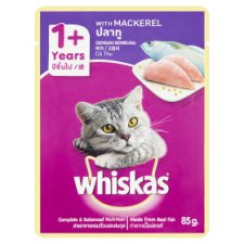Whiskas with Mackerel Cat Food 1+ Years 85g