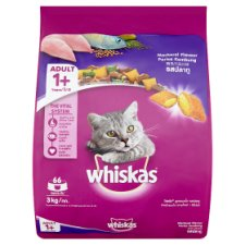 Whiskas Mackerel Flavour Cat Food Adult 1+ Years 3kg