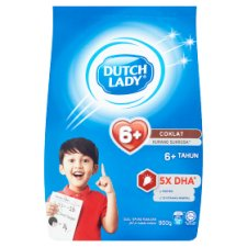 Dutch Lady 6+ Chocolate Formulated Milk Powder 900g